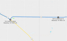 Load image into Gallery viewer, Stage 266: Rt 70 + Fm to M'ket 75 to Rt 70 Muleshoe, Oct 10, 11:45 AM - 10.5 miles