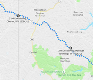 Stage 82: Hanover Township to Chester (WV), Sep 22, 04:26 PM - 7.8 miles