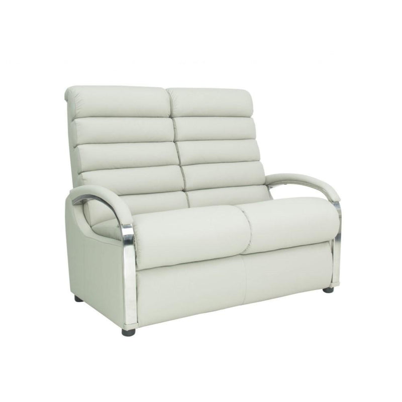 a white couch sitting in a white room