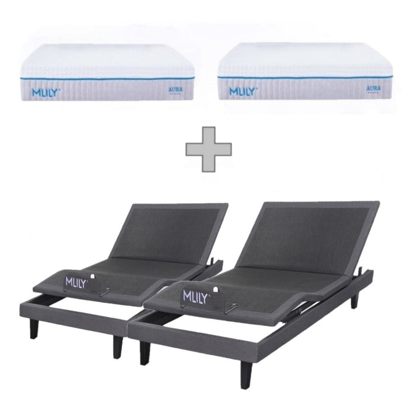 MLILY iActive 20S 2 Motor + Skirt Electric Split King Bed