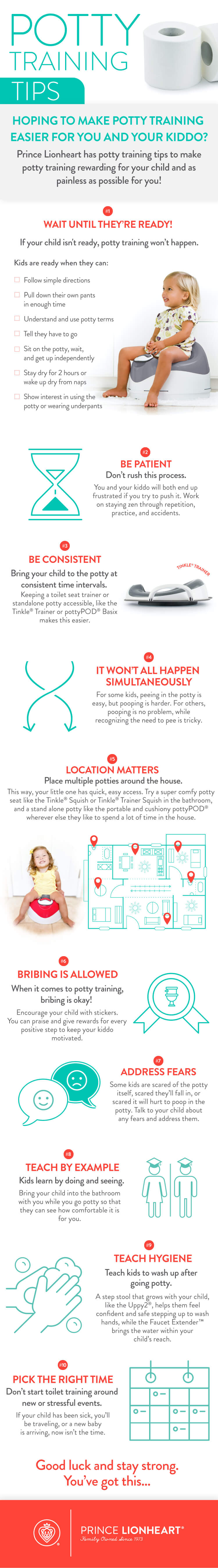 Potty trainging tips infographic