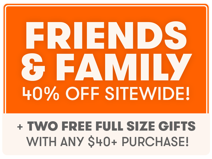 40% off + 2 gifts