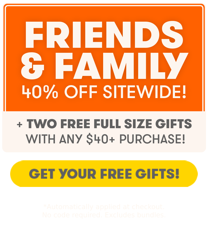 40% off + Free gifts