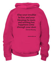 Load image into Gallery viewer, Old Irish Blessing Youth Hoodie.