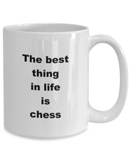 Load image into Gallery viewer, Chess funny white coffee mug women men 11oz or 15oz
