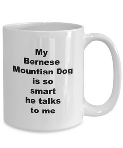 Bernese Mountain dog smart coffee mug White Full Wrap 11oz or 15oz for Him or Her.