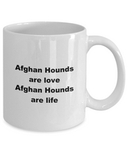 Load image into Gallery viewer, Afghan hound funny white coffee mug women men 11oz or 15oz