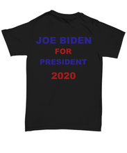 Load image into Gallery viewer, Joe Biden for President T-shirt unisex black all sizes printed both sides