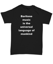 Load image into Gallery viewer, Baritone T-shirt unisex black all sizes printed both sides