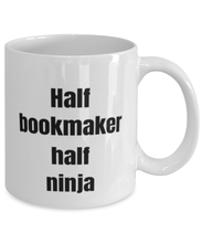 Load image into Gallery viewer, Bookmaker funny white coffee mug for women or men