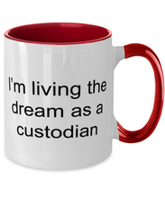 Load image into Gallery viewer, Best Bus Driver Ever Two Tone Red and White Coffee Mug