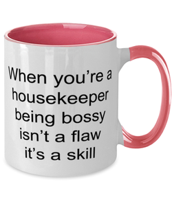 Best Nurse Ever Two Tone Pink and White Coffee Mug