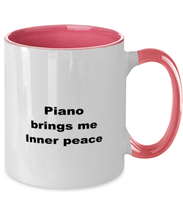 Load image into Gallery viewer, Piano funny two-tone coffee mug four colors 11oz women men