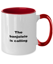 Load image into Gallery viewer, Banjolele funny two-tone coffee mug four colors 11oz women men