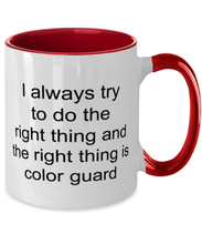 Load image into Gallery viewer, Color guard funny two-tone coffee mug four colors 11oz for women and men