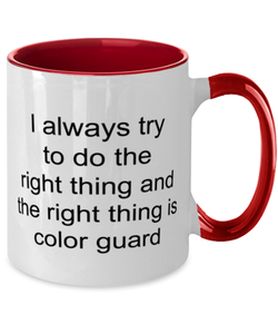 Color guard funny two-tone coffee mug four colors 11oz for women and men