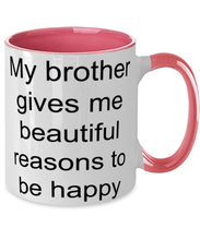 Load image into Gallery viewer, Brother funny two-tone coffee mug four colors 11oz for women and men