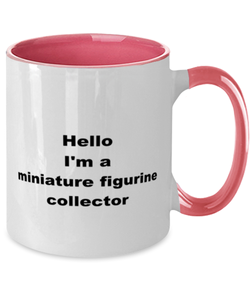 Miniature figurine collector two-tone coffee mug novelty cup for women and men