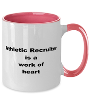 Load image into Gallery viewer, Athletic recruiter two-tone coffee mug novelty cup for women and men