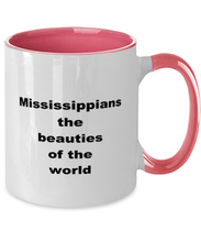 Load image into Gallery viewer, Mississippi two-tone coffee mug novelty cup for women and men