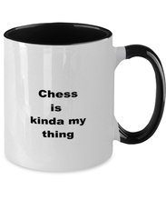 Load image into Gallery viewer, Chess two-tone coffee mug novelty cup for women and men