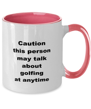Load image into Gallery viewer, Golf two-tone coffee mug novelty cup for women and men