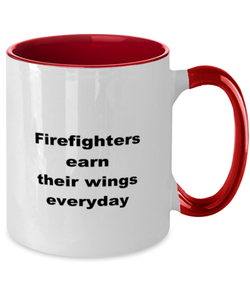 Firefighters two-tone coffee mug novelty cup for women and men