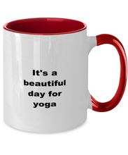 Load image into Gallery viewer, Yoga two-tone coffee mug novelty cup for women and men