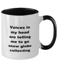 Load image into Gallery viewer, Snow globe collecting two-tone coffee mug novelty cup for women and men