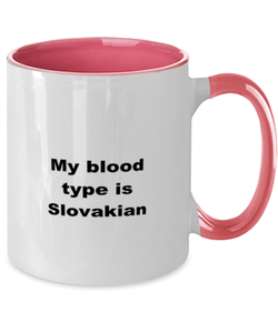 Slovakian two-tone coffee mug novelty cup for women and men