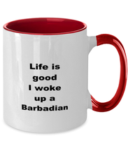 Load image into Gallery viewer, Barbadian two-tone coffee mug novelty cup for women and men