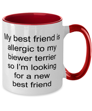 Load image into Gallery viewer, Biewer terrier two-tone coffee mug novelty cup for women and men