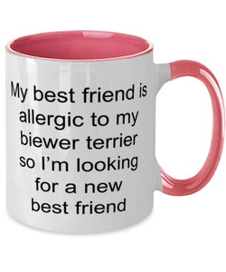 Biewer terrier two-tone coffee mug novelty cup for women and men