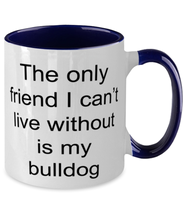Load image into Gallery viewer, Bulldog two-tone coffee mug novelty cup for women and men