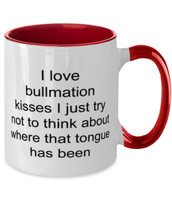 Bullmation two-tone coffee mug novelty cup for women and men