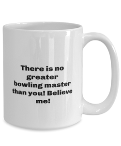 Greatest bowling master coffee mug cup for women or men