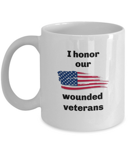 Wounded Veterans mug Printed both sides For him or her
