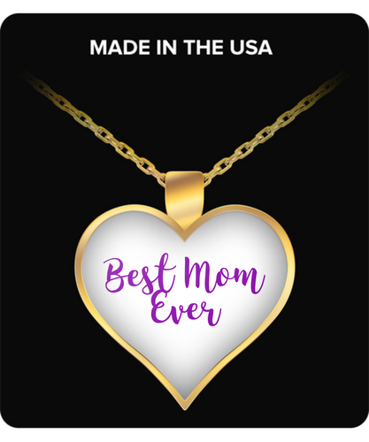 Best Mom Ever Heart Shaped Necklace, a gift for any occasion.
