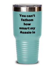 Load image into Gallery viewer, Smart Aussie coffee tumbler spill proof for Aussie lover Insulated 20oz or 30 oz four colors.