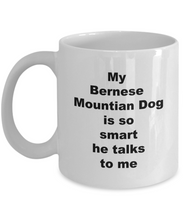 Load image into Gallery viewer, Bernese Mountain dog smart coffee mug White Full Wrap 11oz or 15oz for Him or Her.