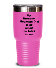 Load image into Gallery viewer, Bernese Mountain dog smart insulated tumbler Spill proof for Him or Her