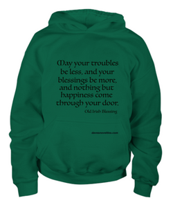 Old Irish Blessing Youth Hoodie.
