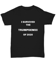 Load image into Gallery viewer, Trump funny 2020 T-shirt unisex black all sizes printed both sides