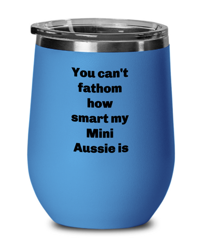 Smart Mini Aussie wine tumbler spill proof choice of five colors.