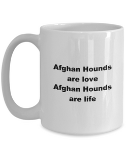 Afghan hound funny white coffee mug women men 11oz or 15oz