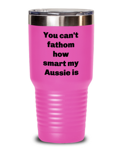 Smart Aussie coffee tumbler spill proof for Aussie lover Insulated 20oz or 30 oz four colors.