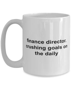 Finance director funny white coffeemug for women or men