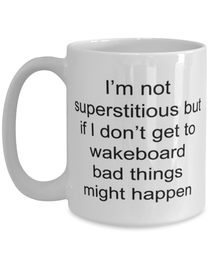 Wakeboard funny coffee mug for women or men