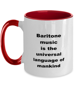 Baritone music funny two-tone coffee mug four colors 11oz women men