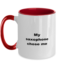 Load image into Gallery viewer, Saxophone funny two-tone coffee mug four colors 11oz women men